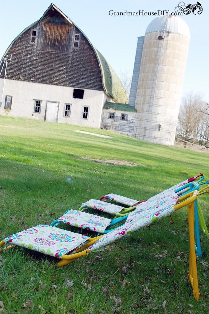 Hunting Chairs to DIY Sun Loungers - by Grandma's House DIY