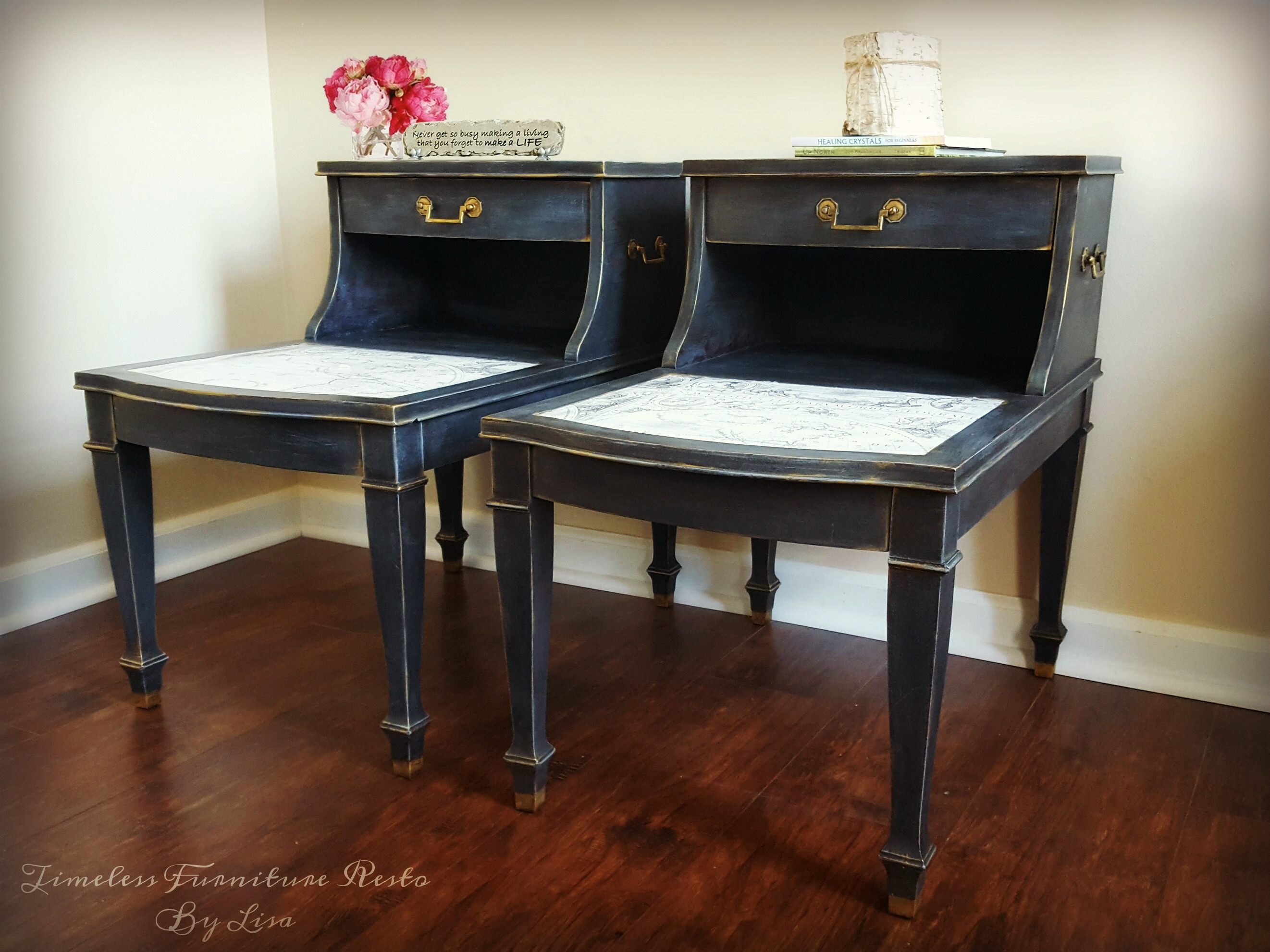 Chic Twin Tables - Makeover by Timeless Furniture Resto by Lisa