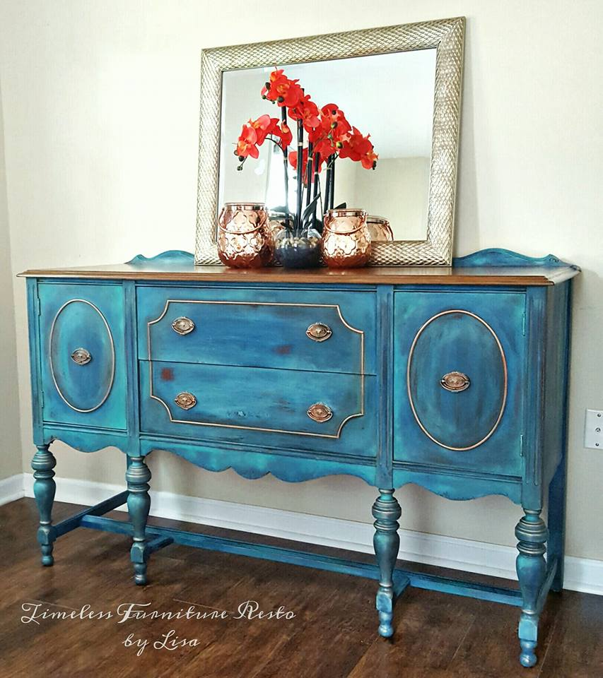 Buffet Sideboard Blue Blended Blue Buffet Diy Furniture Makeovers
