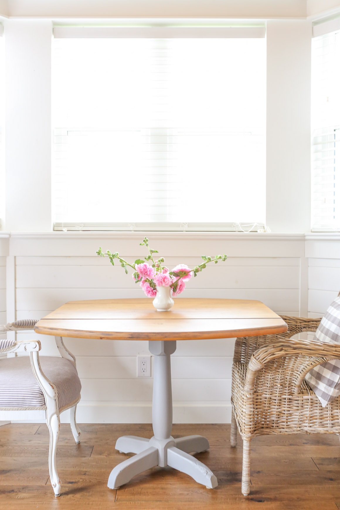 Rustic Refinished Farmhouse Table Makeover by This Mama's Dance - DIY Furniture Makeovers