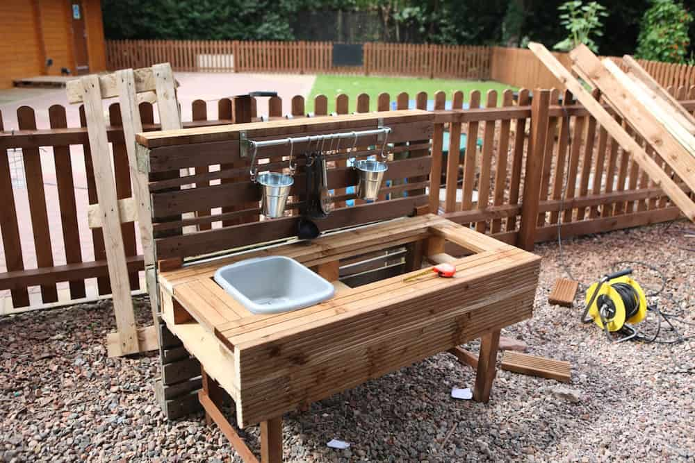 Outdoor Küche Aus Paletten Selber Bauen Mud Kitchen Ideas | How To Make A Mud Kitchen | Diy Garden