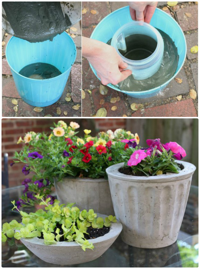 Table Plante Diy Concrete Planter Ideas Projects