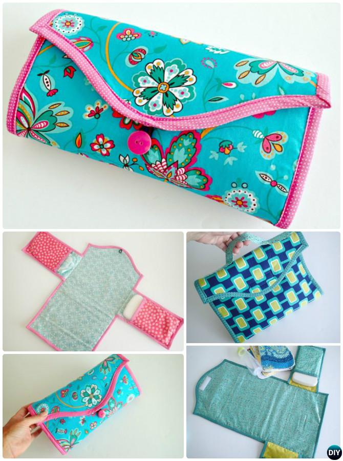 Baby Changing Pad Travel Diaper Clutch Bag Sew Pattern - Baby Change Mats