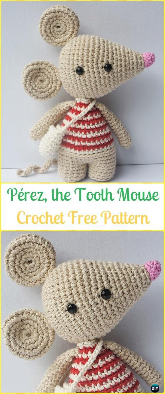 Baby Mobile Stricken Amigurumi Crochet Mouse Toy Softies Free Patterns