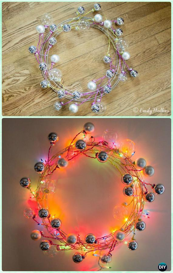 Art E Decoration Diy Christmas Wreath Craft Ideas Holiday Decoration