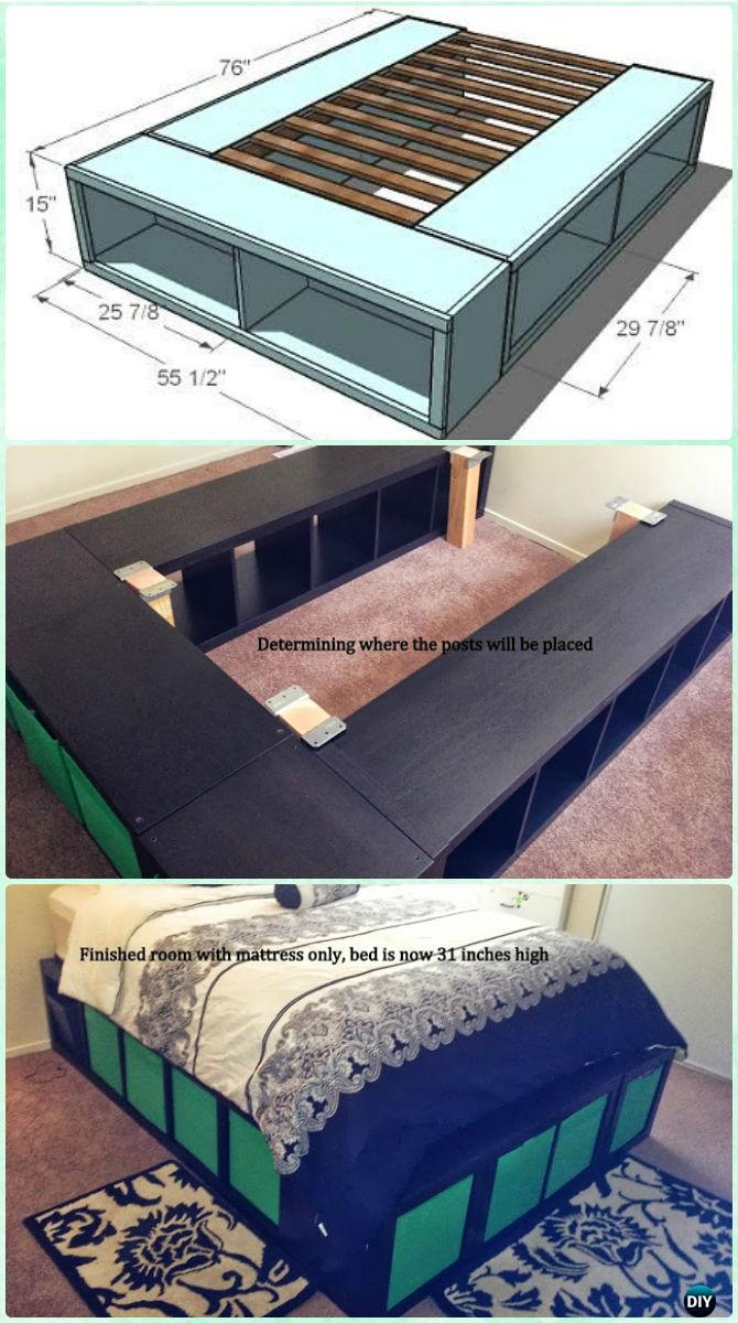 Ikea Food Storage Diy Space Saving Bed Frame Design Free Plans Instructions