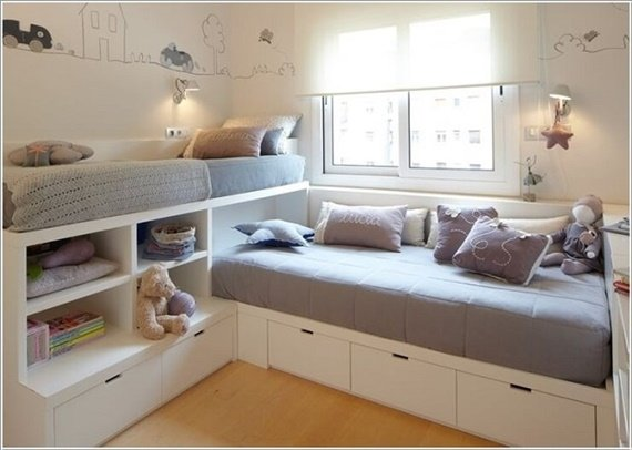 Dormitorio Infantil Dos Camas Space Saving Kids Bedroom Furniture Design Layout