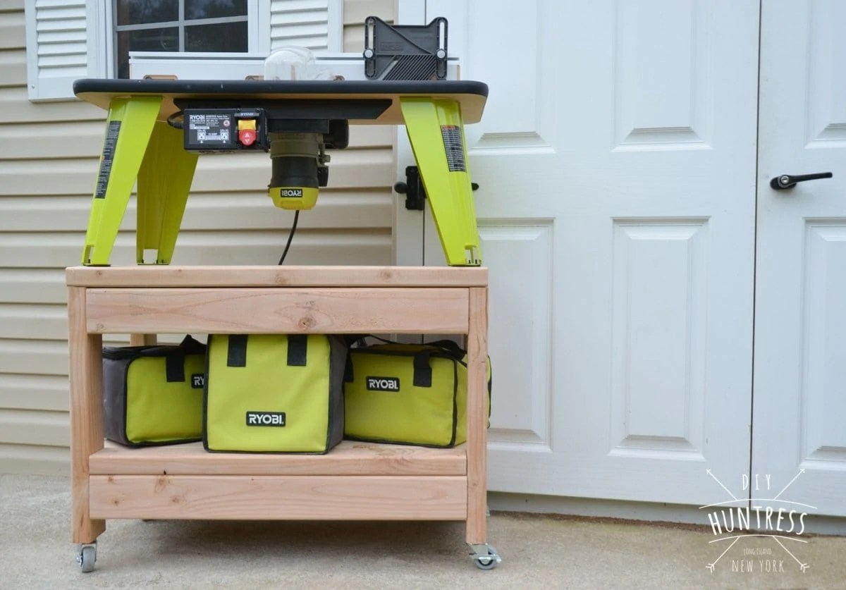 Diy Benchtop Router Table Diy Rolling Benchtop Tool Stand Diy Huntress