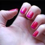 matte+shiny nails