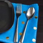 gold dot napkins 8
