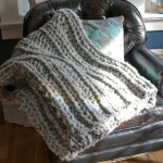 chunky knit throw 1