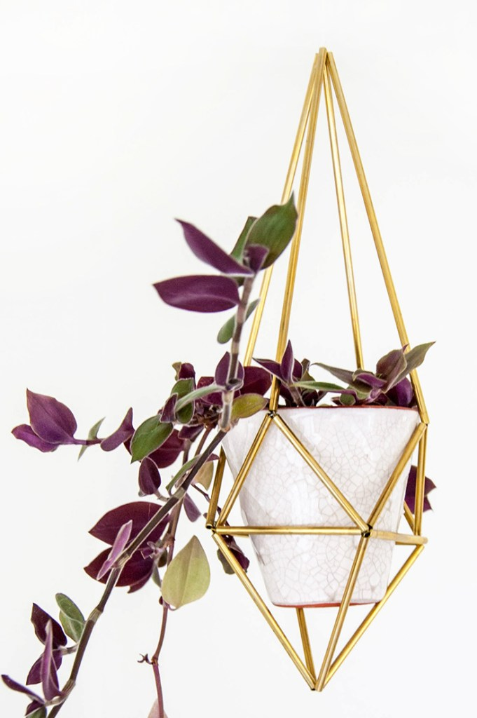 DIY himmeli plant holder