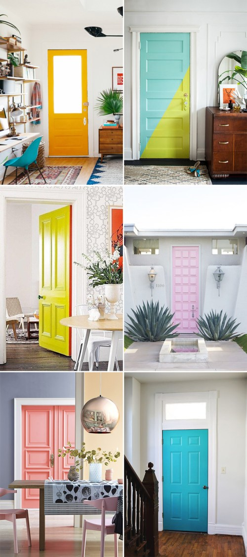 bright painted door inspiration