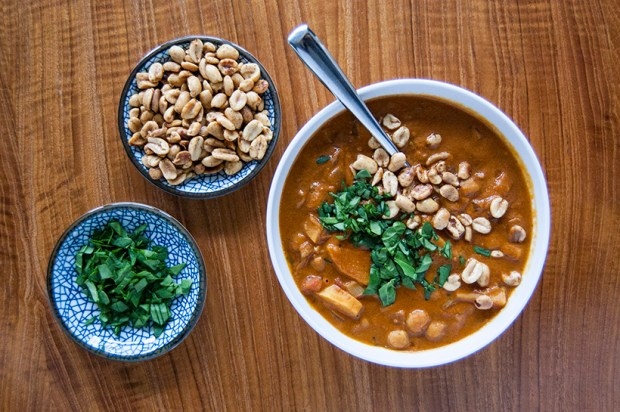 vegetarian peanut soup recipe