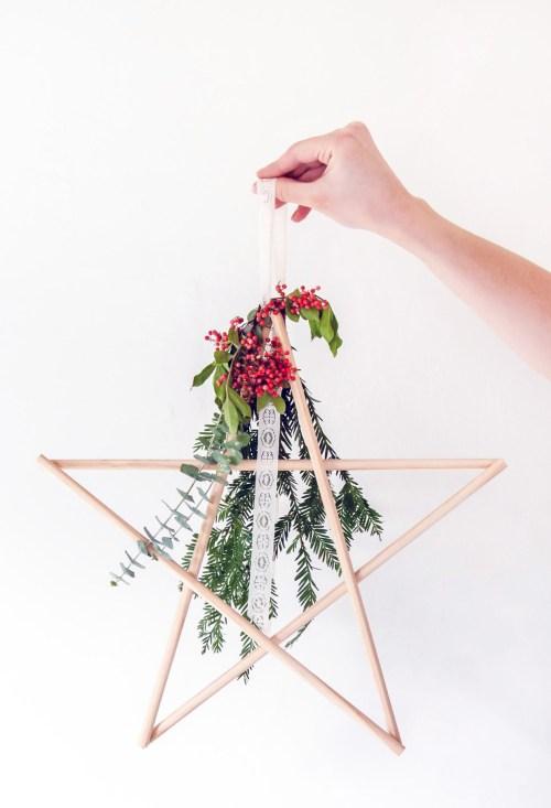 Make easy DIY star holiday decor