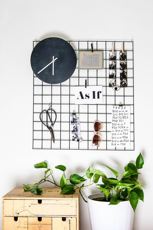 DIY metal wall grid