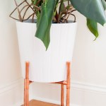 DIY Copper Plant Stand