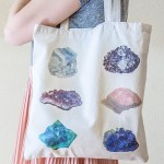 DIY Gemstones & Minerals Tote Bag with Free Printables