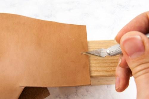 DIY Leather Catchall Organizer Bin