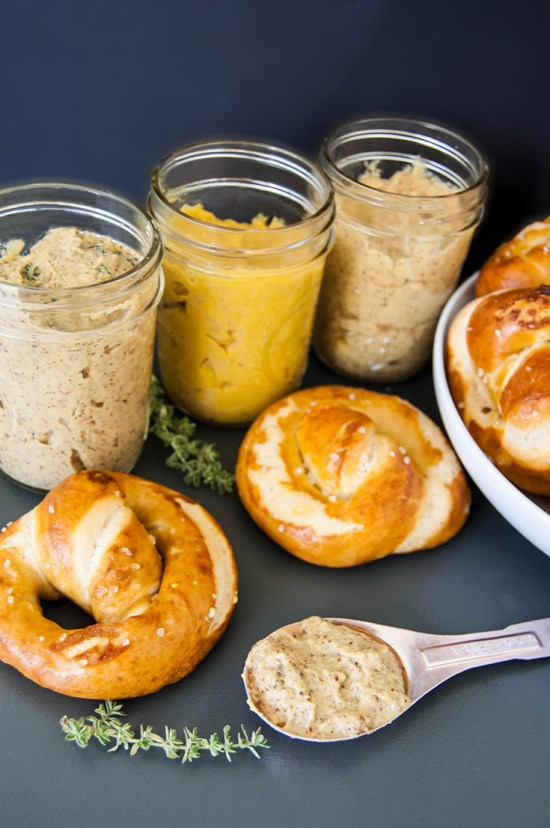 How to Make Mustard - Recipes for Honey Mustard, Beer Mustard, and Rosemary Thyme Mustard.