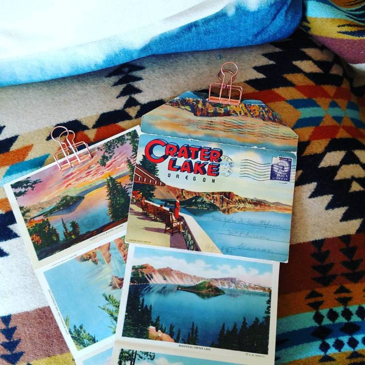 vintage Crater Lake postcards