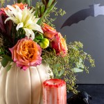 DIY Halloween decorations - Make a pumpkin planter, blood-drip candle, and flock of bats