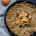 Apple Crisp with Slow Cooker Whiskey Salted Caramel