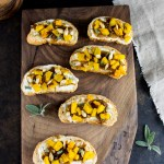 Caramelized Onion + Roasted Squash Bruschetta Appetizer
