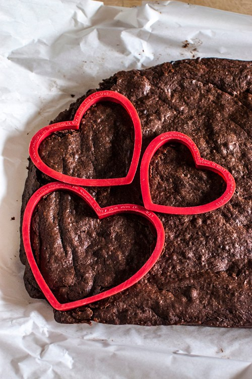 Spicy Chocolate Brownie Hearts