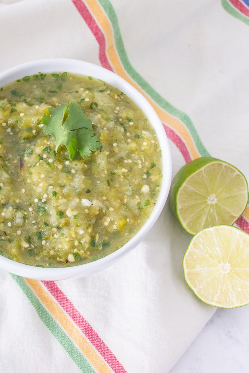 Stumped about what to do with tomatillos? Try this roasted tomatillo salsa verde recipe.