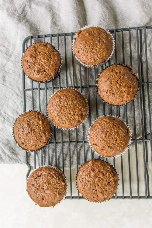 These light and fluffy gingerbread muffins are plant-based, dairy-free, and egg-free, but they still have plenty of gingerbread flavor.