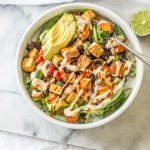 Sweet Potato and Black Bean Salad with Cashew Lime Dressing