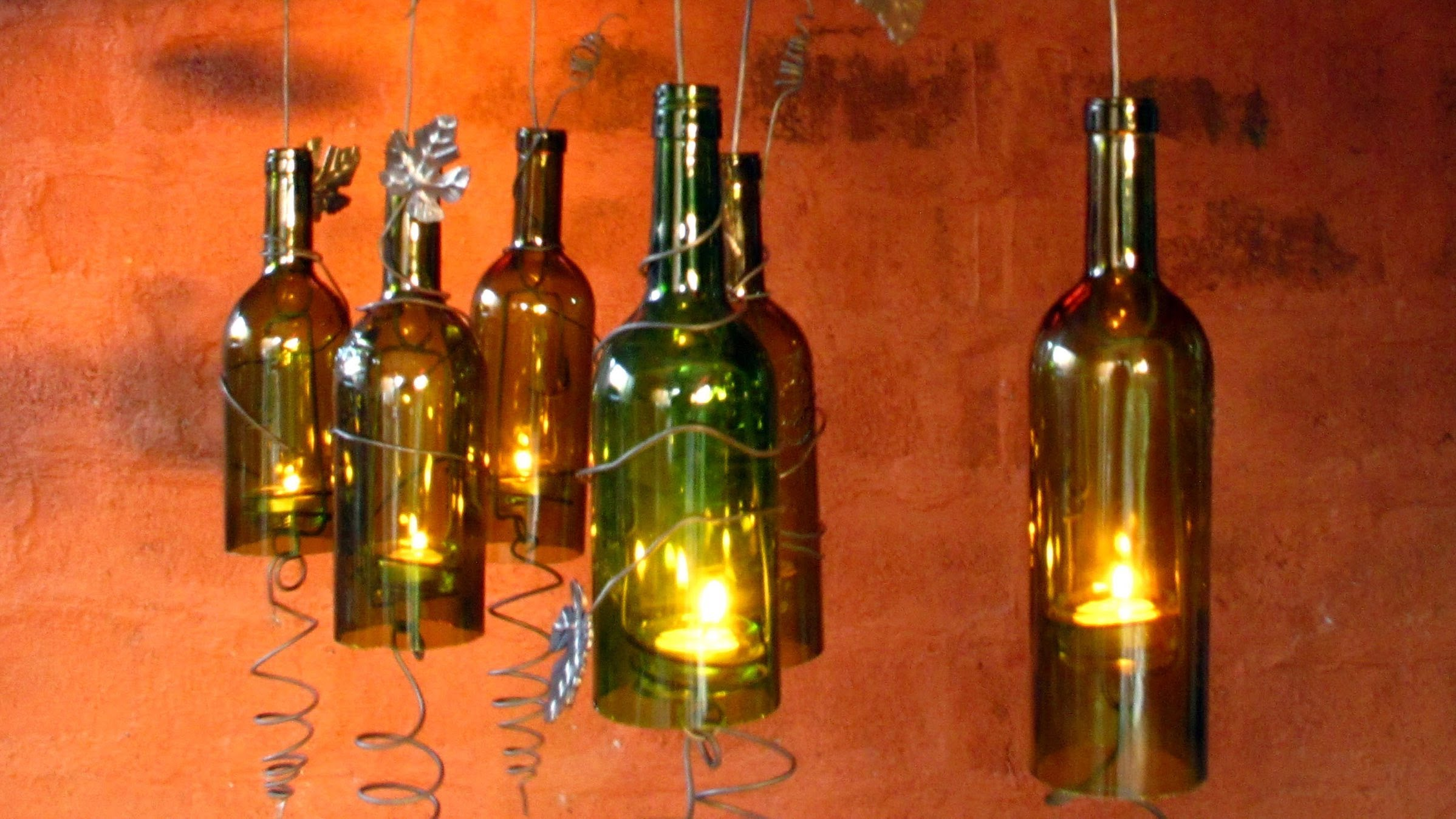 Kerzenhalter Weinflasche Diy: Recycled Wine Bottles Made Into A Hurricane Candle Holder