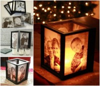 DIY Lamp Tutorial | Picture Frame Ideas at http://diyjoy ...