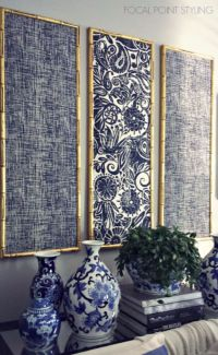 Pics For > Diy Framed Fabric Wall Art
