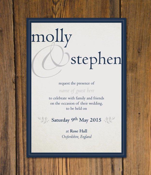 homemade wedding invitations templates