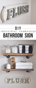 DIY Industrial Farmhouse Bathroom