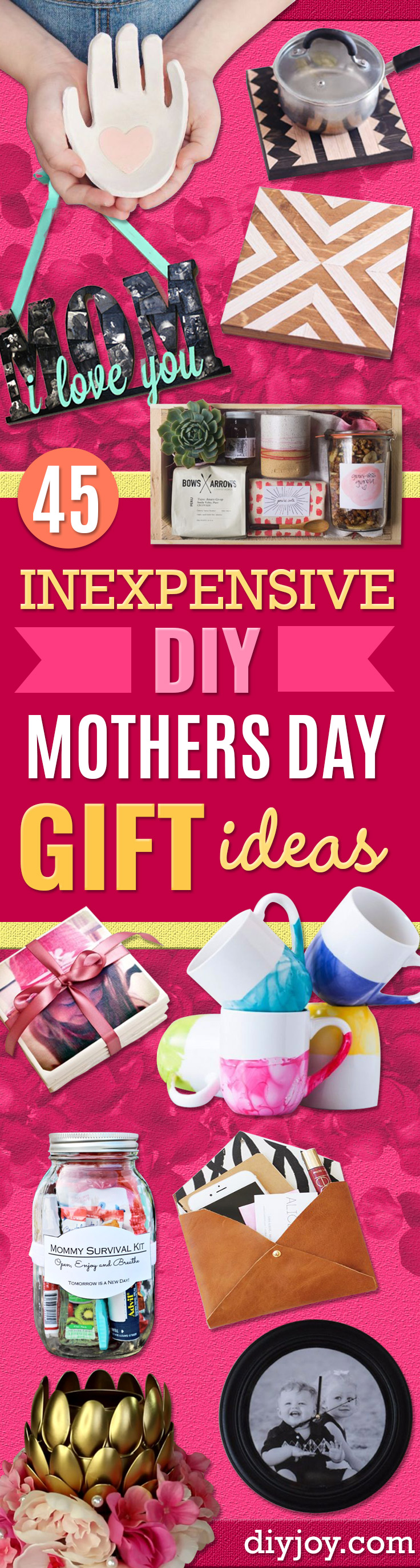 Awesome Diy Mother's Day Gifts 45 Inexpensive Diy Mothers Day Gift Ideas
