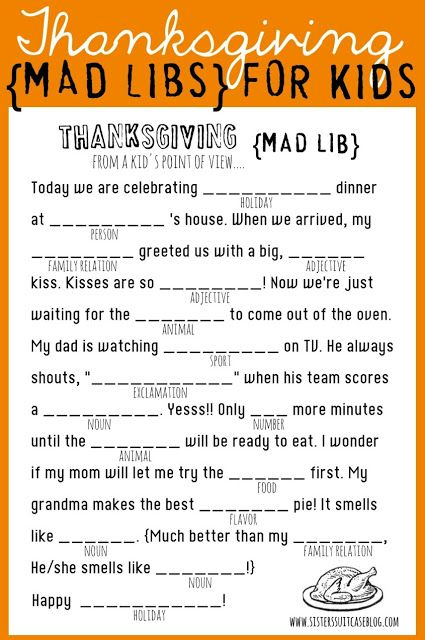 Best Diy Crafts Ideas  Thanksgiving Mad Libs {FREE Printable} to