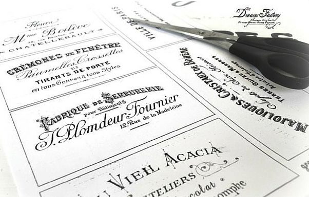 DIY Decorating  Printable French Typography Labels by Dreams