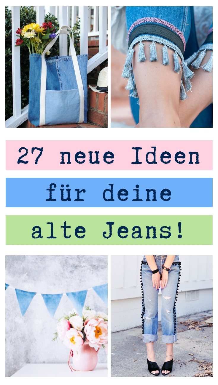 Ideen Mit Fotos Upcycling Ideen Jeans Diy Mode
