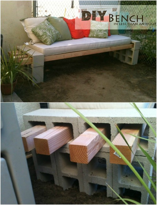 Cendrier Exterieur Fait Maison 17 Creative Ways To Use Concrete Blocks In Your Home - Diy