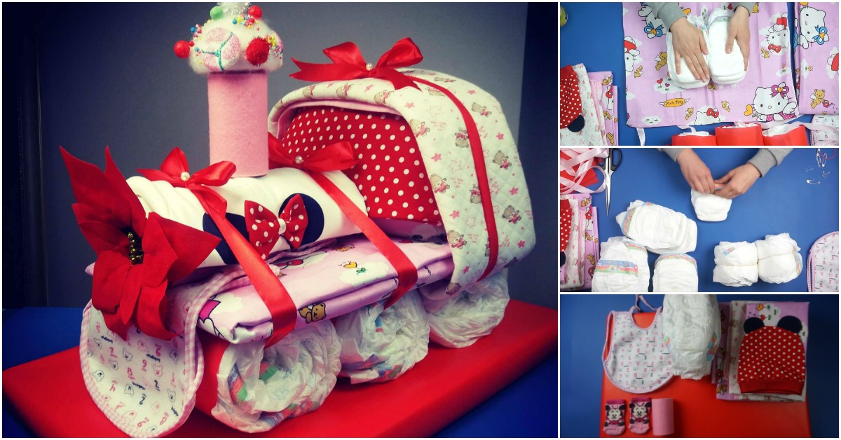 Shower Ideas How To Make An Adorable Choo Choo Train Diaper Cake - Baby