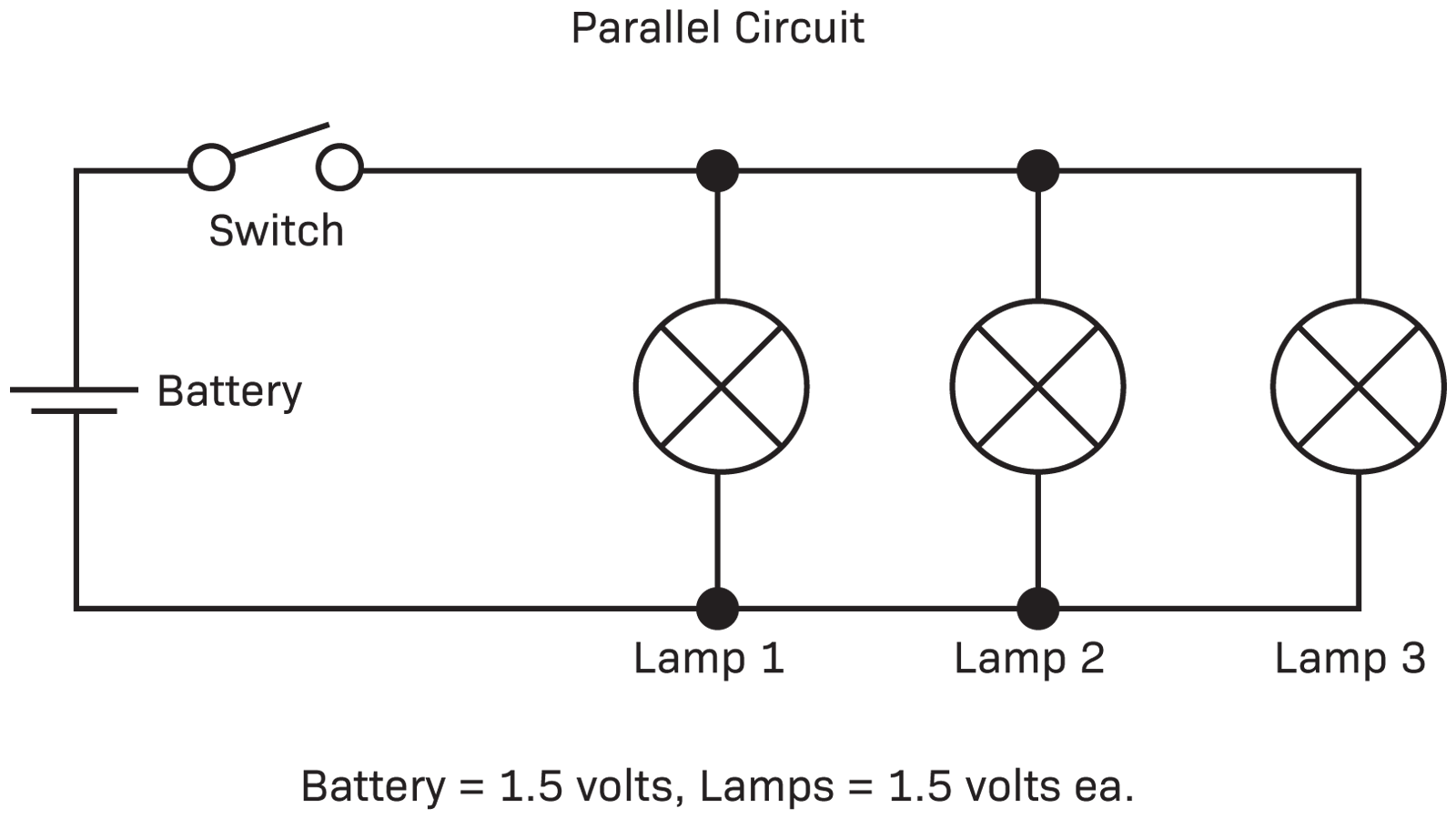 parallel circuit christmas lights