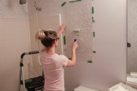 Bathroom Makeover: Stenciled Walls {Plus a Giveaway ...