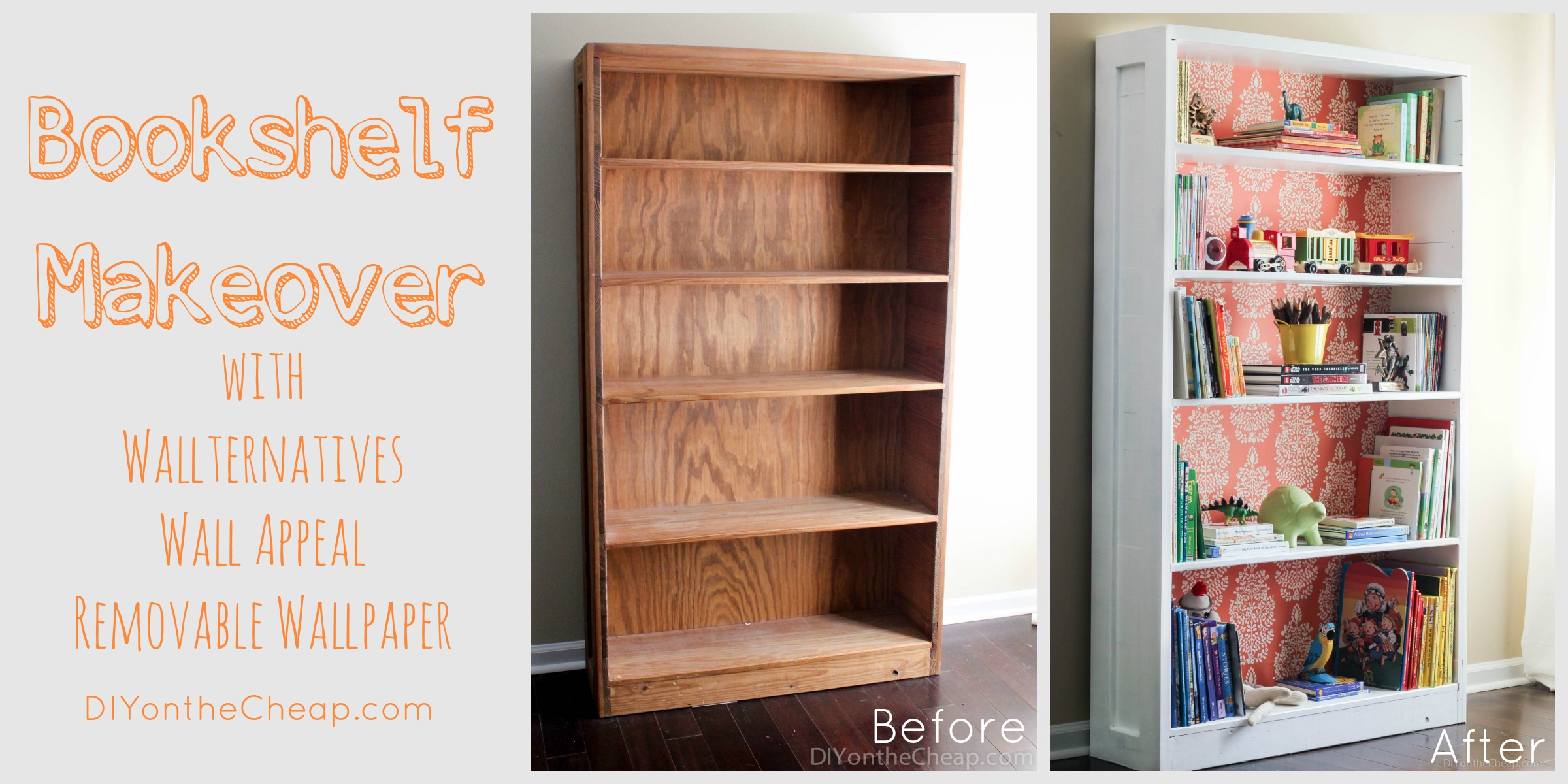 Cheap Bookshelf Bookshelf Makeover Before And After Erin Spain
