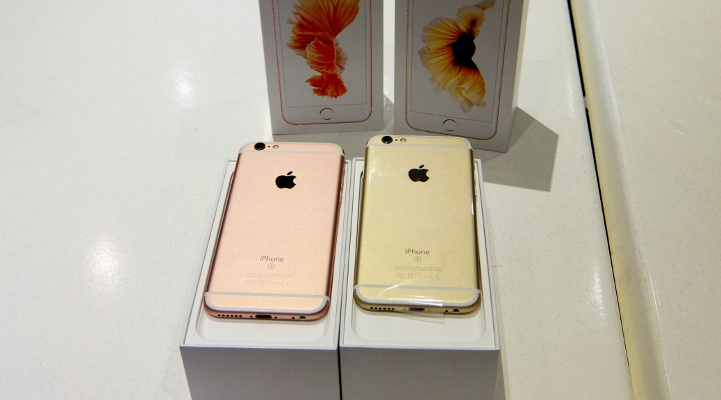 SMART iPhone 6S in Rose Gold and Gold
