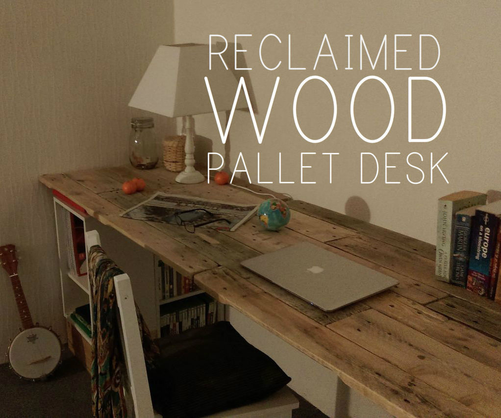 Bar En Bois De Palette Reclaimed Wooden Pallet Desk | Diy Pallet Ideas