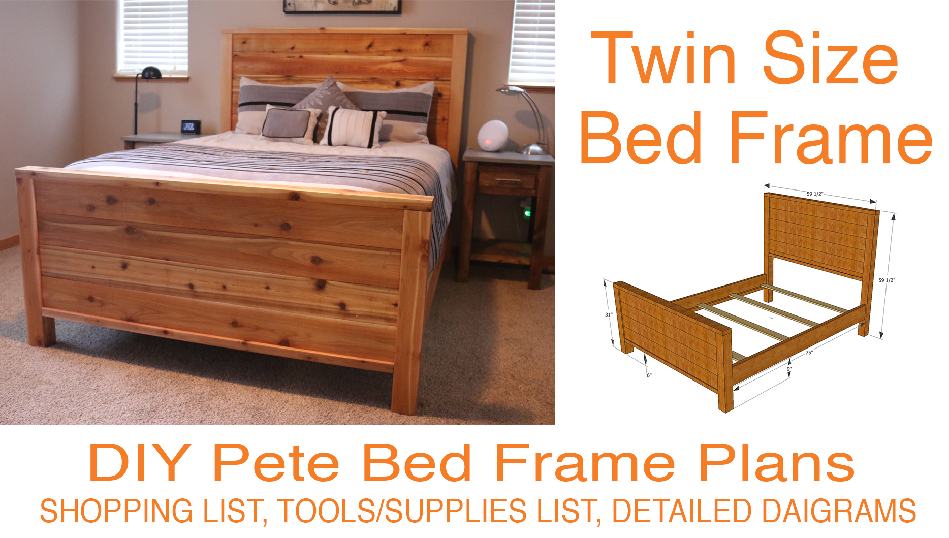 Cheap Wooden Bed Frames Diy Bed Frame Plans How To Make A Bed Frame With Diy Pete