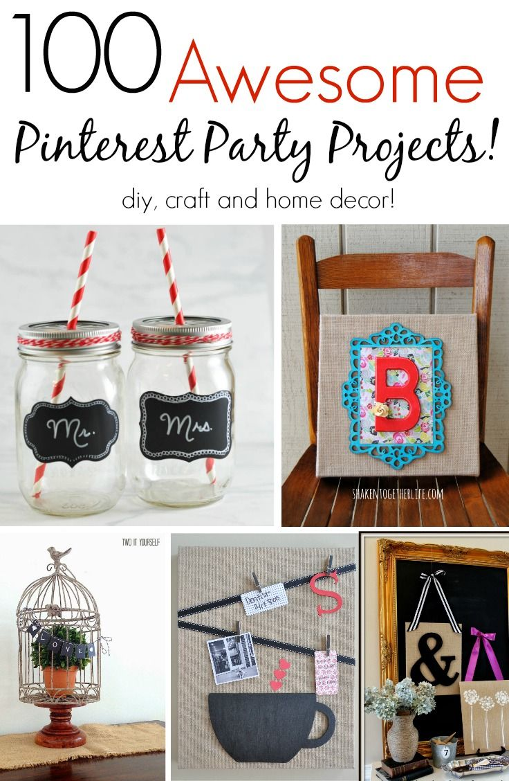 Pinterest Diy Home Decor Diy Crafts Ideas 100 Awesome Pinterest Party Projects Great Diy